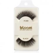 Bloom Natural pestañas postizas fabricadas con cabello natural No. 100 (Black) 1 cm