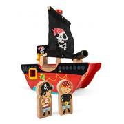 Le Toy Van Little Capt'n Pirate Boat Playset