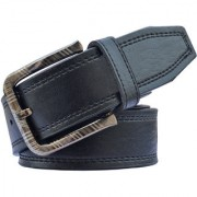 Sunshopping men's black leatherite needle pin buckle belt (PSD-TB-DTR)