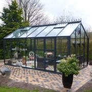 Växthus Spira 15,0 m², Aluminium, Ja