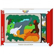 Hape George Luck Asian Animals Wood Puzzle (31 Piece)