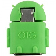 Sgn Android Shaped Micro USB V8 OTG Connector Adapter