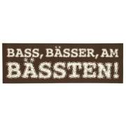 Bandshop Sticker Bass, Bässer am