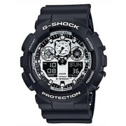 Casio G-Shock Analog-Digital White Dial Mens Watch - GA-100BW-1ADR (G619)