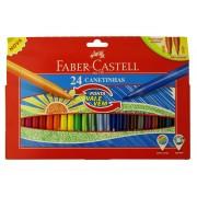 Carioci cu varf retractabil, 24 culori/set, FABER CASTELL