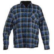 CAMASA LUCRU FLANEL CU CAROURI ALBASTRE - L/H-176