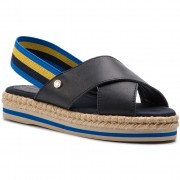 Еспадрили TOMMY HILFIGER - Colorful Rope Flat Sandal FW0FW04060 Midnight 403