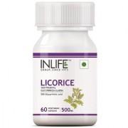 INLIFE Licorice Root Extract (Yastimadhu) 500 mg - 60 Veg Capsules