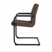 [en.casa]® Designová stolička - 6 ks - 86,5 x 60 cm - tmavo sivá