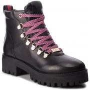 Туристически oбувки STEVE MADDEN - Boomer Ankle Boot SM11000245-03001-017 Black Leather