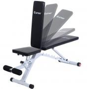 Costway Banco de Musculación Plano Plegabe Ajustable Banco de Pesas Entrenamiento para Gimnasio Hogar Ejercicios Fitness Carga hasta 150kg