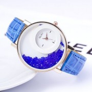 Mxre Blue Womens watches ladies watches girls watches designer watches crystal inside By star