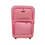 Koffer middel met streep dessin 54 liter