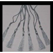 CRAFTS Cardmaking Bookmark TASSELS SILVER COLOUR x 10