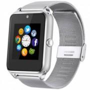 Ceas Smartwatch cu Telefon iUni GT08s Plus Curea Metalica Touchscreen BT Camera Notificari Silver Bonus Bratara Roca Vulcanica unisex