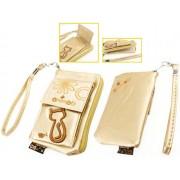 Animob A02-96GD hímzett mobiltelefon tok 75 x 12 x 120mm - arany