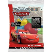 "Disney Cars 12"" Assorted Color Balloons (6 Individual Packages of 6 Ct. Balloons -36 Total Balloons)"