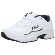 Fila Men s Memory Sportland Running Shoe White/Fila Navy/Metallic Silver 8 D(M) US