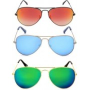 RPR Wayfarer Sunglasses(Red, Blue, Green)