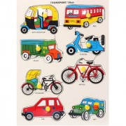 WOODEN PUZZLE FOR KIDS - TYPES OF TRANSPORT