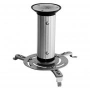 Soporte Proyector Techo Basculante Giratorio 360º 10kg +kit - Gris y Negro