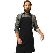 Merkloos Zwart barbecue keukenschort voor volwassenen - Action products