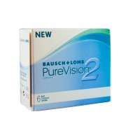 Bausch & Lomb PureVision 2 HD -6.50 mensuelles 6 lentilles de contact Bausch & Lomb -6.50 Balafilcon A (Silicone Hydrogel)