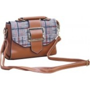 Toys Factory Girls Sports Brown Genuine Leather Sling Bag