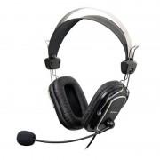 Casti cu microfon A4Tech HS-50, cablu 2 m, Negru
