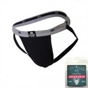 "MM Original Edition Bike Style Adult Supporter 1"" Waistband Jock Strap Underwear Black/Grey"