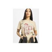Tee Mister Tee / t-shirt Happy Weekend in beige - Dames - Beige - Grootte: Extra Large