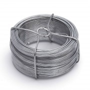 Merkloos 1 rolletje ijzerdraad / binddraad / binddraden staal verzinkt 1,8 mm x 50 m op rol