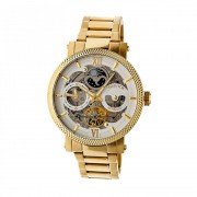 Heritor Automatic Aries Skeleton Dial Bracelet Watch - Gold/Silver HERHR4403