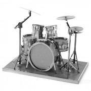DIY 3D rompecabezas montaje estante tambor modelo juguetes educativos - plata