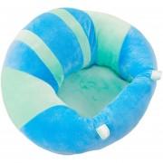 EB Respaldo Asiento Silla De Comedor Bebé Almohada Cojín Asiento De Bebé Abrazo En Forma De U - Verde Azul