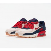 Nike Air Max 90 Premium Sail/ University Red-Midnight Navy