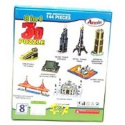 3 D Puzzle Do It Yourself 8 In 1 Monuments Puzzle Game