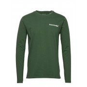 Knowledge Cotton Apparel Sallow Signature Wave Long Sleeve - T-shirts Long-sleeved Grön Knowledge Cotton Apparel
