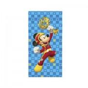 Toalha De Banho Infantil Lepper -Aveludada Mickey Aventura Sobre Rodas
