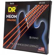 DR Neon Orange Medium 5 Cuerdas bajo eléctrico