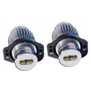 Ampoules LED 10W anneaux angel eyes BMW E90 E91 Blanc xenon