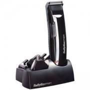 Тример BaByliss Multi6 E823E 6 in 1 за брада и коса, Употреба без кабел, 6 Аксесоара, Черен