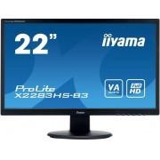 "IIYAMA ProLite X2283HS-B3 - LED-monitor - 22"" (21.5"" zichtbaar) - 1920 x 1080 Full HD (1080p) - VA - 250 cd/m² - 3000:1"