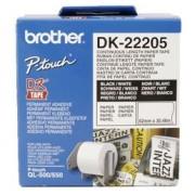 Fita BROTHER DK-22205 Branca 62MM P/QL-5X0 QL-650TD