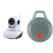 Mirza Wifi CCTV Camera and Clip Bluetooth Speaker for SONY xperia z1f(Wifi CCTV Camera with night vision |Clip Bluetooth Speaker)
