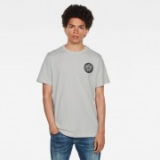G-star RAW Hommes Round RAW Badge T-Shirt Gris
