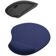2.4Ghz Ocean Slim Wireless Mouse Mousepad Combo(BLACK)