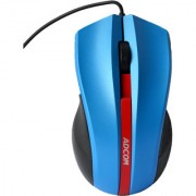 Adcom AD-1145 Optical USB Wired Mouse (Blue)