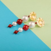 Silver Shine Unique White and Red Colour Designer Party Wear Earring For Girls and Women Jewellery