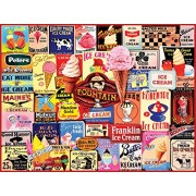 White Mountain Puzzles Ice Cream Collage - 1000 Piece Jigsaw Puzzle